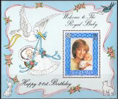 ROYAUME UNI (Ile De Man) - 21e Anniversaire De La Princesse De Galles (feuillet) - Isle Of Man