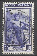 Timbro Tondo - BROZZI 11-4-52 - 20 Lire Italia Al Lavoro - 6. 1946-.. Repubblica