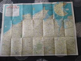Carte Touristique De La Cote D Emeraude Penthievre Frehel 56 Cm Par 77 Cm - Geographische Kaarten