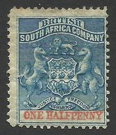 Rhodesia, British South Africa Company, 1/2 P, 1891, Sc # 1, Mi # 16, MH.. - Great Britain (former Colonies & Protectorates)