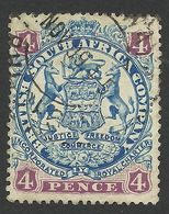Rhodesia, British South Africa Company, 4 P, 1896, Sc # 30, Mi # 29IIb, Used. - Great Britain (former Colonies & Protectorates)