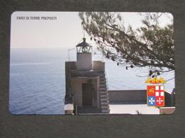 ITALIA TELECOM F4489 C&C 910 GOLDEN - FARO DI TORRE PREPOSTI - NUOVA MINT MAGNETIZZAZIONE ORIGINALE TELECOM - Lighthouses