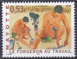 Mayotte 2005 Wirtschaft Arbeitswelt Berufe Schmied Profession Blacksmith Forgeron, Mi. 181 ** - Mayotte (1892-2011)