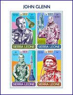 SIERRA LEONE 2017 MNH** John Glenn Space Raumfahrt Espace M/S - OFFICIAL ISSUE - DH1750 - Africa