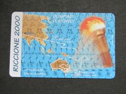 ITALIA TELECOM F3328 C&C 1274 GOLDEN - IPZS RICCIONE 2000 OLIMP. SIDNEY  - NUOVA MINT MAGNETIZZAZIONE ORIGINALE TELECOM - Jeux Olympiques