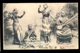 Nautch Girls, Ceylon / Postcard Circulated, 2 Scans - Sri Lanka (Ceylon)