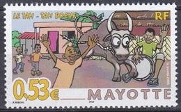 Mayotte 2005 Brauchtum Traditionen Folklore Stierkampf Customs Bullfighting Tam-Tam Bœuf, Mi. 182 ** - Mayotte (1892-2011)