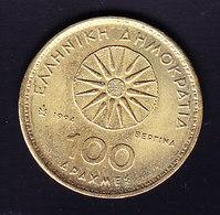 COIN GRECE   KM 159  1954; 100 D  .  (7P1) - Grèce