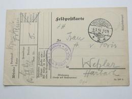 1916 , INSTERBURG , Klarer Stempel Auf Karte Mit Truppenstempel - Brieven En Documenten