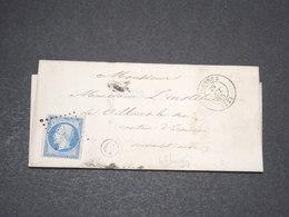 FRANCE  - Lettre De Louvres Pour Villiers Le Sec En 1855 , Affranchissement Napoléon - L 13961 - Postmark Collection (Covers)