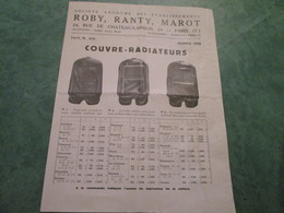 ROBY, RANTY & MAROT . Couvre-Radiateurs . Tapis-Brosse . Housses - Motos