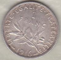 1 Franc Semeuse 1916 En Argent - France