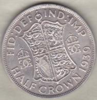 Grande Bretagne . ½ Crown 1939 . George VI. En Argent - 1902-1971 : Post-Victorian Coins