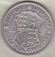 Grande Bretagne . ½ Crown 1928 . George V. En Argent - 1902-1971 : Monnaies Post-Victoriennes