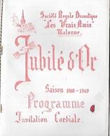 Programme. Jubilé D'Or. 1968/69. Wallon. Malonne. Namur - Programmes