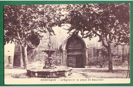 MANOSQUE - L'Eglise Et La Place St-Sauveur - Manosque