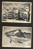 FRABOSA SOPRANA ( CN ) - PANORAMA INVERNALE E CIMA Delle SALINE ( Spedite 193... ) LOTTO Di 2 Cartoline - Cuneo