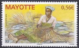 Mayotte 2010 Wirtschaft Arbeitswelt Handwerk Kunsthandwerk Korbflechterei Professions Basketry Weaving, Mi. 234 ** - Mayotte (1892-2011)