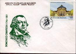 31158  Romania, Special Postmark 1994 Domenico Cimarosa, Music Opera Composer - Musik
