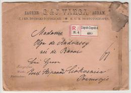 Hungary - Croatia, Varga K.u.k. Hoffotografen Letter Cover Registered Travelled 1904 Zagreb To Crikvenica B180220 - Briefe U. Dokumente