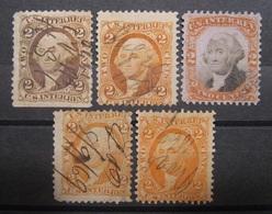 USA Revenue Lot Fiskal/Steuer 1869 - 1872 Federzug ! Abarten !    (K308) - Gebraucht