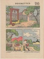 Imagerie Moderne Louis Bellenand Et Fils 1930 - Devinettes - Publicité Verso Les Tabliers Colbert Javela - Menükarten