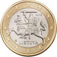 Litauen 2018     De Gewone Munt Van 1 Euro ZEER Zeldzaam - Extreme Rare  UNC Uit De BU -du Coffret  5.000 Ex !! - Lituania