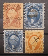 USA - Internal Revenue 1862 - 1868 Fiskal/Steuer Federzug ! Abarten !    (K310) - Usados