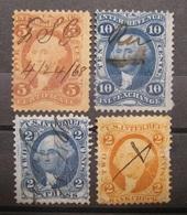 USA - Internal Revenue 1862 - 1868 Fiskal/Steuer Federzug ! Abarten !    (K310) - 1847-99 Emisiones Generales