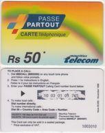 213/ Mauritius; Prepaid, Passe Partout - Maurice