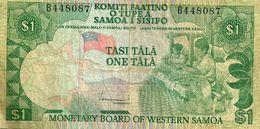 SAMOA 1 TALA GREEN FLAG WOMAN FRONT BOAT EMBLEM BACK ND(1980) P.19 F+ READ DECRIPTION !!!! - Samoa