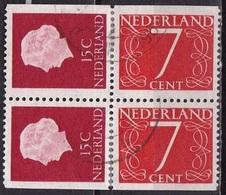 1964 Combinatie 2 X 15 + 2 X 7 Ct Uit PB 1 NVPH C 9 - Carnets Et Roulettes