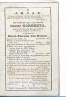 MA17/ ° PUTTE 1812 + TIENEN 1881 ZUSTER NORBERTA = MARIA VAN MEENSEL - Religion & Esotericism