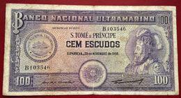 # SAO TOMÉ ET PRINCIPE 100 Escudos 20/11/1958 P38 TB (F)  *Rare* - Sao Tomé Et Principe