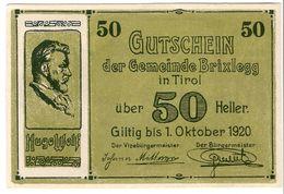 Österreich Austria Notgeld 50 HELLER FS104a BRIXLEGG /175M/ - Austria