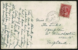 RB 1198 -  1909 Canada Postcard - Super Norwood Grove Postmark - Winnipeg Manitoba 2c To UK - 1903-1908 Reign Of Edward VII