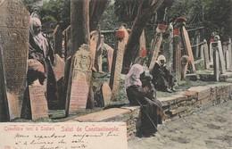 Turquie : CONSTANTINOPLE : (  Cimetière Turc à Scutari ) Carte Colorisée - Turchia