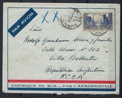 Lettre De France Pour L'Argentine Du 19/06/34 Arrivée Le 2/07/34 - Poste Aérienne