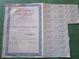 ATLANTIC - Manufacture Dentaire Française (Ets LALY Et ARDENTA Réunis) Action De 50 NF Au Porteur - Actions & Titres