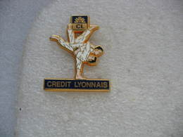 "Pin's Judo, Partenariat, ""Crédit Lyonnais"" - Judo"