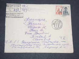 U.R.S.S. - Enveloppe En Recommandé De Georgbievsk Pour Paris En 1955 - L 14013 - 1923-1991 URSS