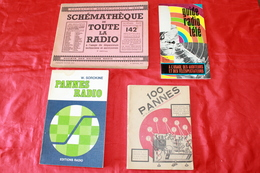 4 LIVRES ANCIENS RADIO AMATEUR - Literature & Schemes