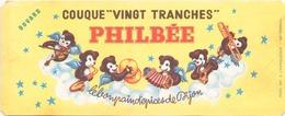 """Buvard  """" Philbée"""" Pain D'épices ( Pliures, Déchirures, Rousseurs ) 20,5 X 8.5 Cm - Gingerbread"""