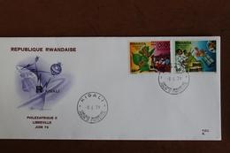 1979          RWANDA    ENVELOPPE   1er   JOUR  PHILEXAFRIQUE  2 - 1970-79: FDC