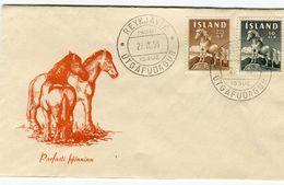 Iceland/Islande/Ijsland/Island FDC 27.IX.1958 The Icelandic Horse Matching Cover - FDC