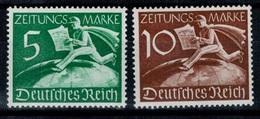 DR REICH 1939 Mi.- Z738 Z739 Zeitungs ** MNH LUSSO - Unused Stamps