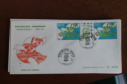 1979          GABON  1              ENVELOPPE    1er   JOUR  PHILEXAFRIQUE  2 - Gabun (1960-...)