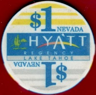 $1 Casino Chip. Hyatt Regency, Lake Tahoe, NV. L12. - Casino