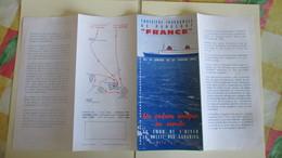 Depliant Du Paquebot France 1er Voyage D'essai Avec Sa Marrainne Madame De Gaulle( Rare )du 19au 27 Janvier1962. - Tourism Brochures