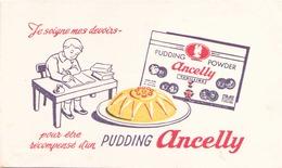 "Buvard  "" Anclly Pudding "" ( Pliures, Rousseurs, Taches ) 20 X 12 Cm - Cake & Candy"